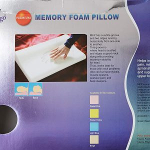Flamingo Premium Memory Foam Pillow - Small (Beige)